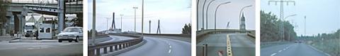 Anfahrt von der A7 über die Köhlbrandbrücke.